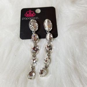 Nwt Five Tier Dangle Diamond Earrings